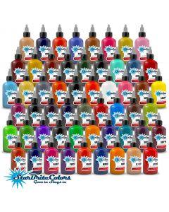 StarBrite Colors Tattoo Ink - 55 Color Set - 1/2 oz