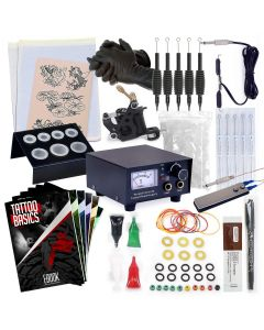 Rehab Ink Complete Tattoo Kit w/ Gun, Power Supply, Needles, 4 Inks & More