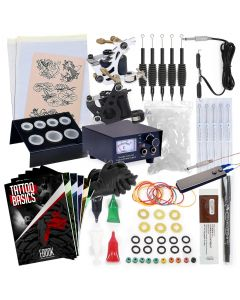 Rehab Ink Complete Tattoo Kit w/ 2 Guns, Power Supply, Needles, 4 Inks & More