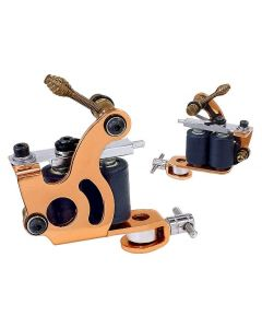 Afterlife Custom Irons Dual Coil Liner Shader Tattoo Gun Machine - Copper