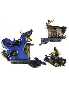 Afterlife Custom Irons 10-Wrap Coils Tattoo Machine Shader Gun - Blue