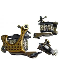 Afterlife Custom Irons Tattoo Shader Gun Machine 10-Wrap Coils - Gold