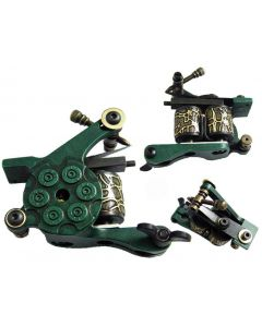Afterlife Custom Irons Tattoo Gun Machine Shader 10-Wrap Coils - Green