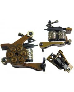 Afterlife Custom Irons Tattoo Gun Machine Shader 10-Wrap Coils - Gold