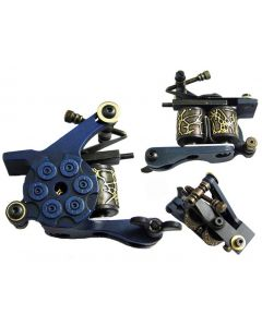 Afterlife Custom Irons Tattoo Gun Machine Shader 10-Wrap Coils - Blue