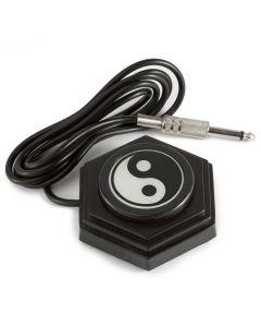 AmeriVolt Yin-Yang Tattoo Foot Pedal 360 Degree Switch w/ 5 ft. Cord - Black
