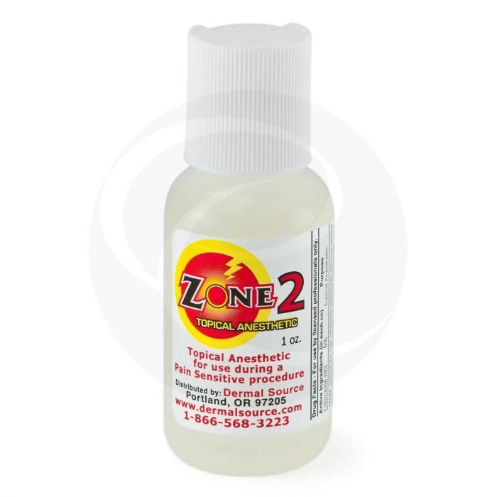 Zone 2 Anesthetic Gel Numbing For Tattoo Or Piercing
