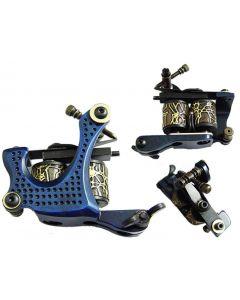 Afterlife Custom Irons Tattoo Shader Gun Machine 10-Wrap Coils - Blue