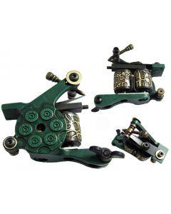 Afterlife Custom Irons Tattoo Gun Machine Shader 10-Wrap Coils - Green