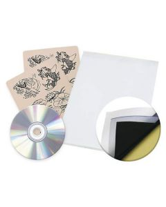Rehab Ink 12 Tattoo Practice Skins Transfer Paper and Flash CD